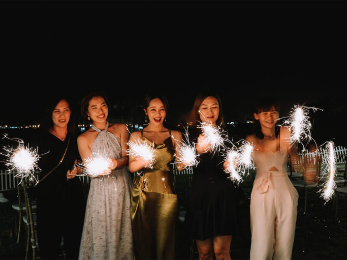Actual Day Wedding Photography - Fay Tan w Sparklers